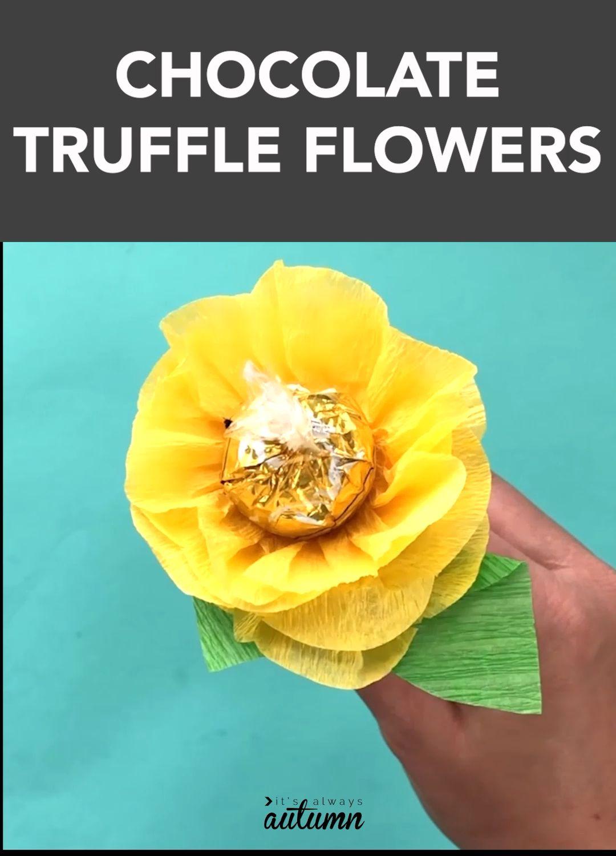 Make a chocolate truffle candy bouquet! #giftideas