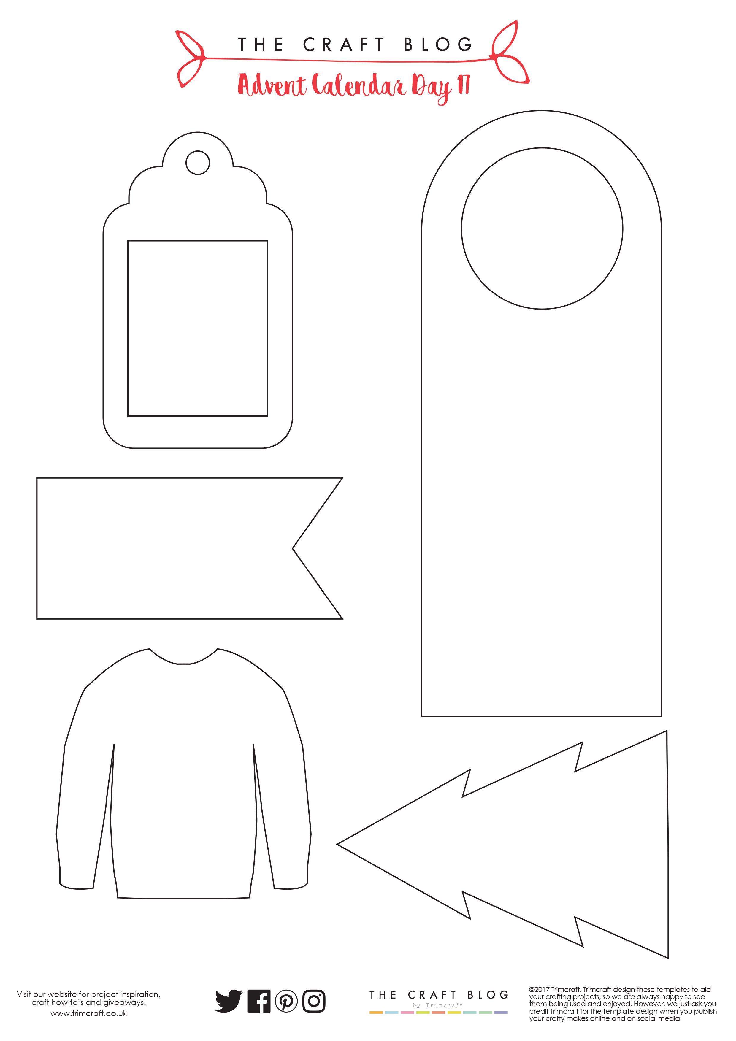 Advent Calendar Day 17 Free Christmas Tag Templates With Shaker