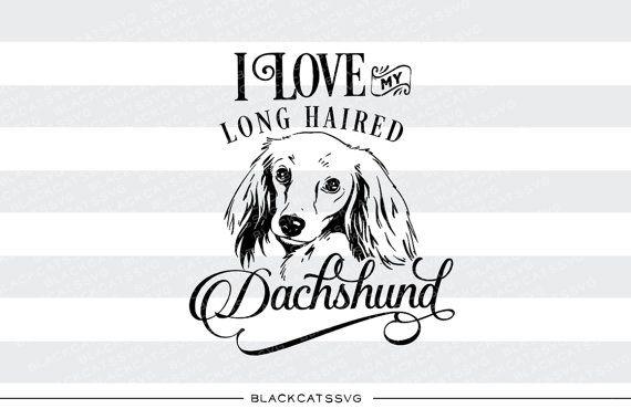 Longhaired Dachshund Little Heart Window Decal Sticker *J617*