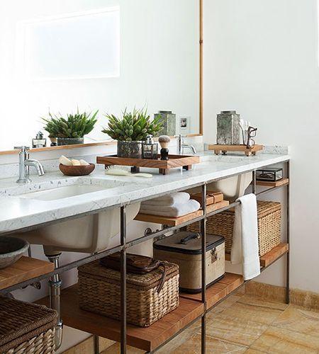 Superbe Beautiful Bathroom Vanities  Industrial Chic Bathroom Vanity With Open  Shelves