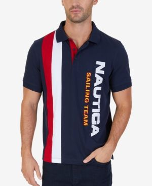 720904be2 Nautica Men's Big & Tall Logo-Print Polo - Blue 1X Tall. Lil Yachty x  Nautica ...