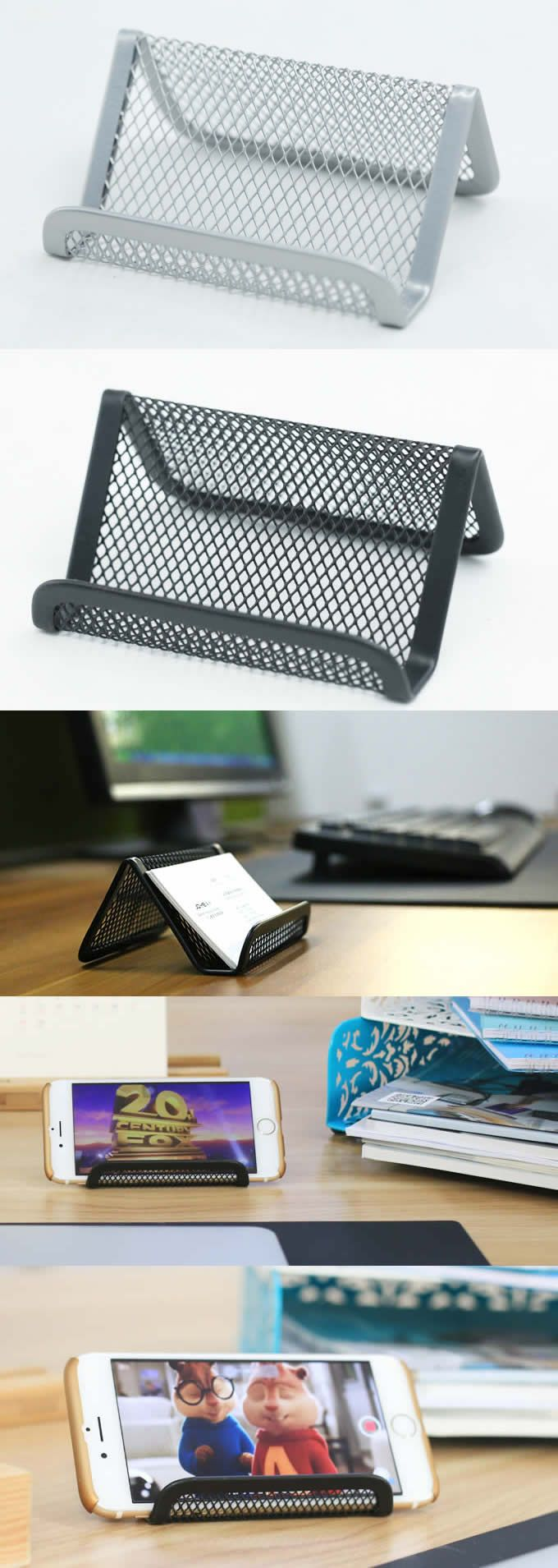 Mesh Business Card Holder Cell Phone Holder | office gifts ...