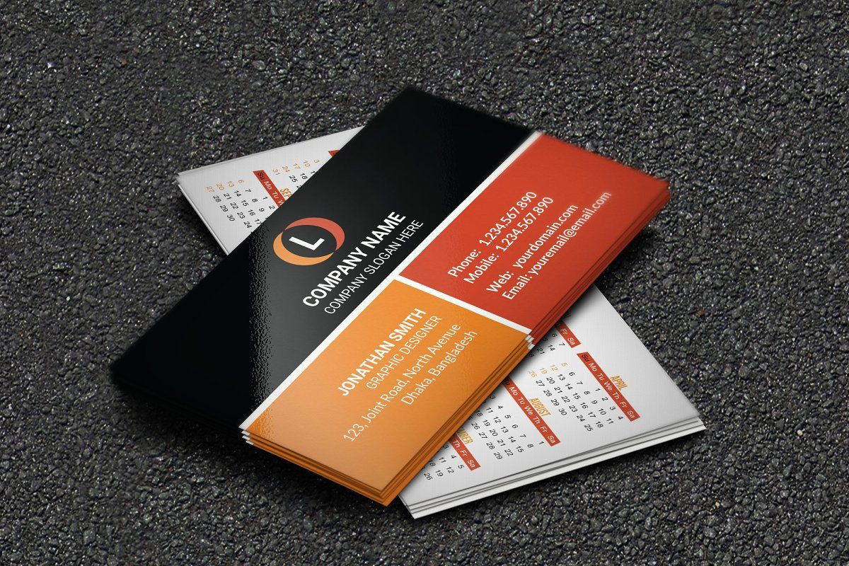 Calendar Business Card 2020 Vol 1 Calendar Template Order Business Cards Calendar