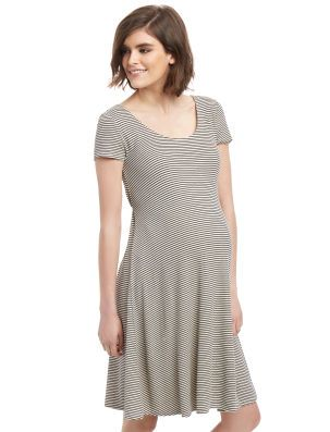 Rib Knit Fit And Flare Maternity Dress