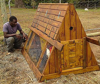 a frame chicken coop chicken tractor hobby farming the city chicken