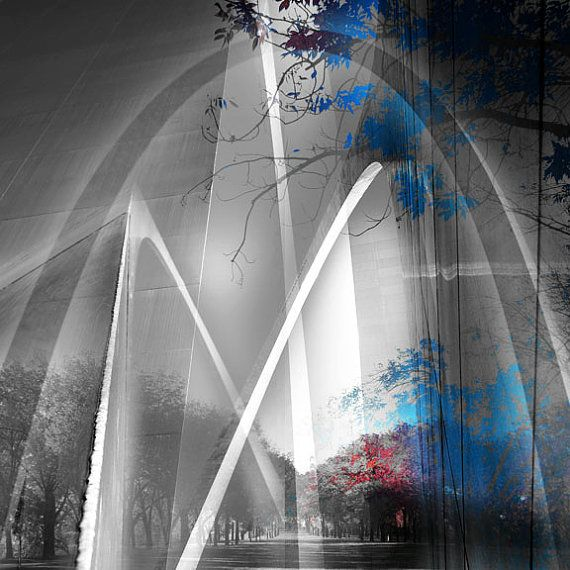 Gateway Arch, St Louis Photography Collage Print on Esty by madcanvases (STL Pin of the Day, 1/23/2014).