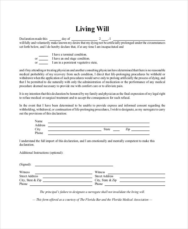 ohio living will template sketch resume ideas News to Go 3 - declaration in resume