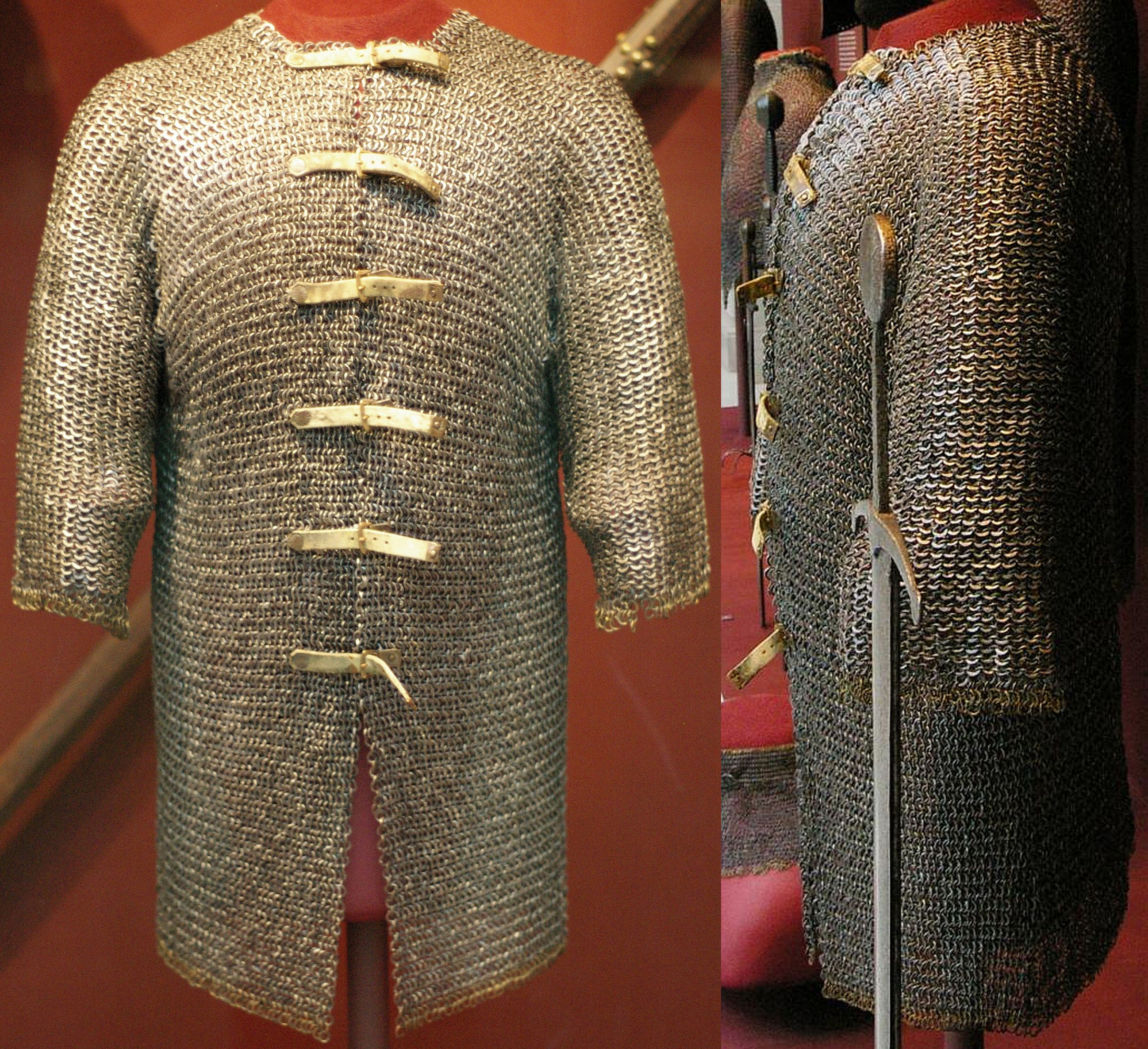 European German Riveted Mail Hauberk 15th Century
