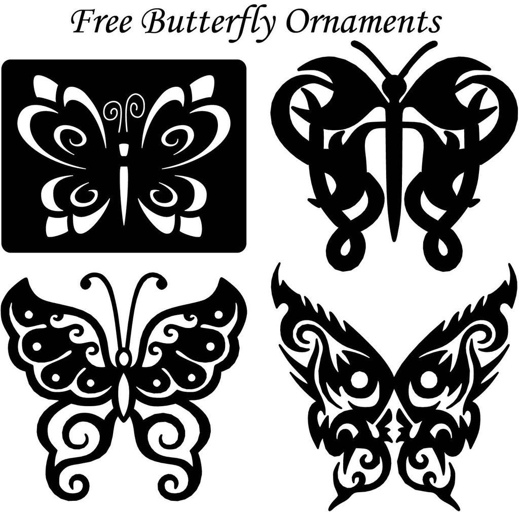 Butterfly ornaments decor free dxf files cut ready cnc
