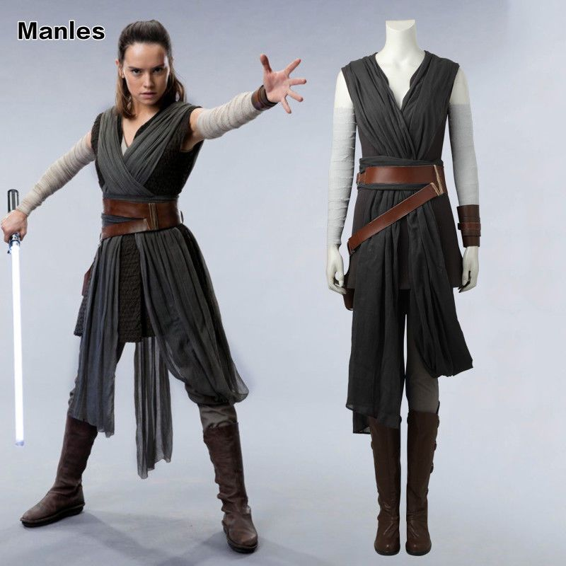 Details About Star Wars The Last Jedi Rey Cosplay Costume