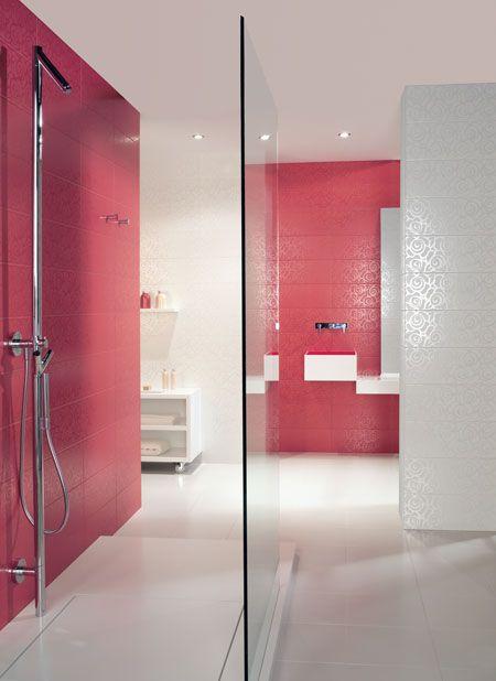 Product Wall Tiles ENTRETELA CLOQUÉ Setting Bath BATHROOM - Slip resistant tiles bathroom for bathroom decor ideas