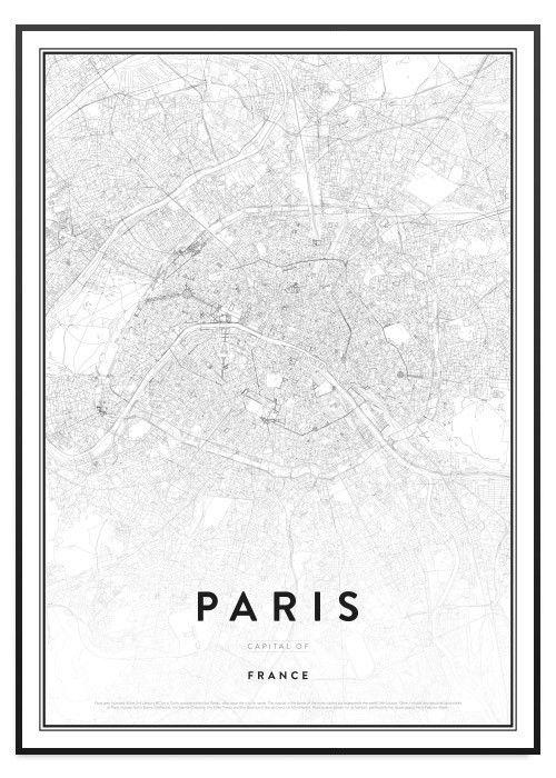 poster paris karta Poster Store Paris karta tavla | Maps | Pinterest poster paris karta