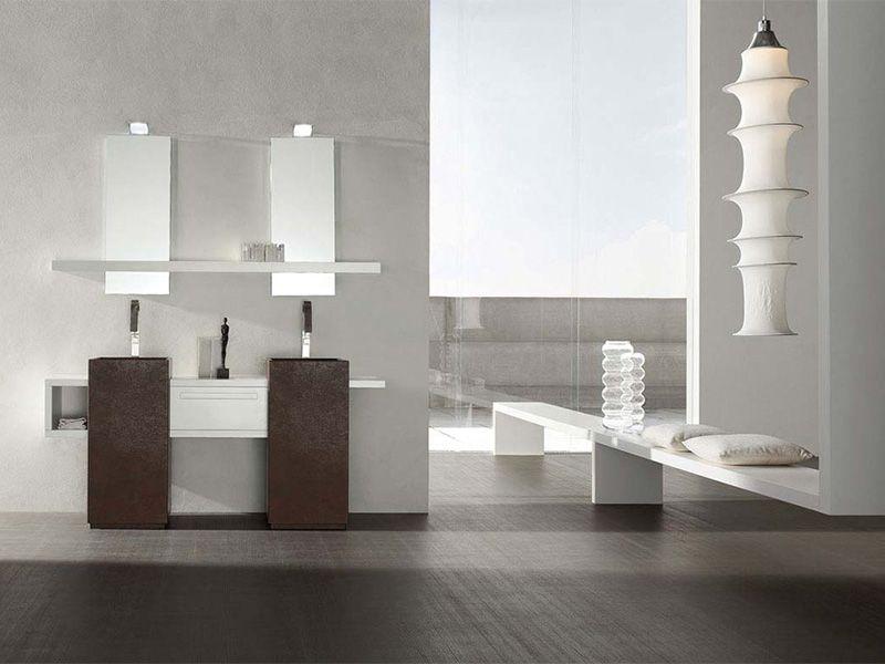 Bagno #moderno con doppio lavello da #ArredissimA | ArredissimA ...