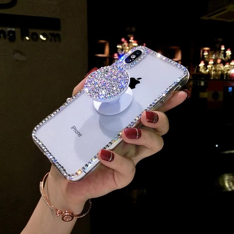 Rhinestone phone case & pop socket
