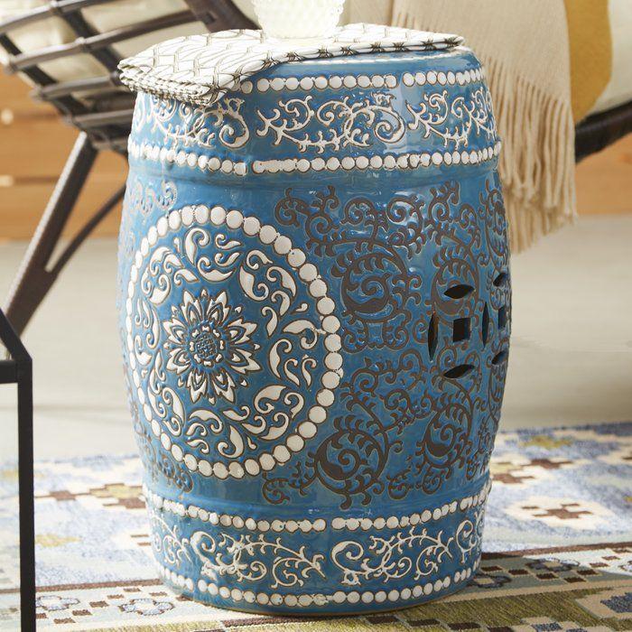 Medallion Porcelain Garden Stool Oriental Furniture
