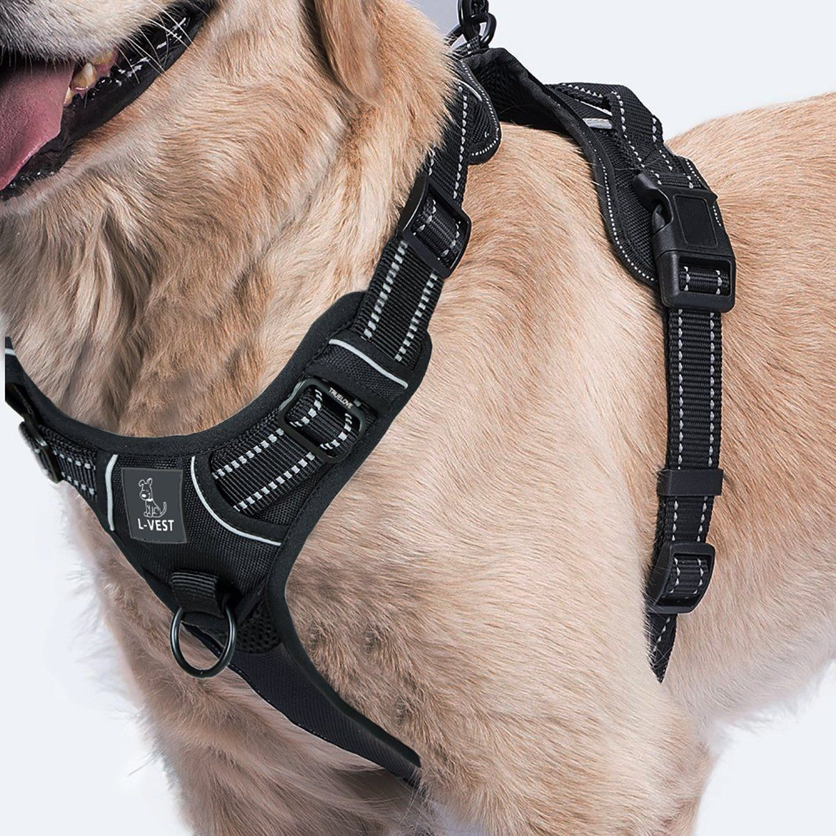 Dog Harness For Easy No Pull Walk Reflective Breathable Material