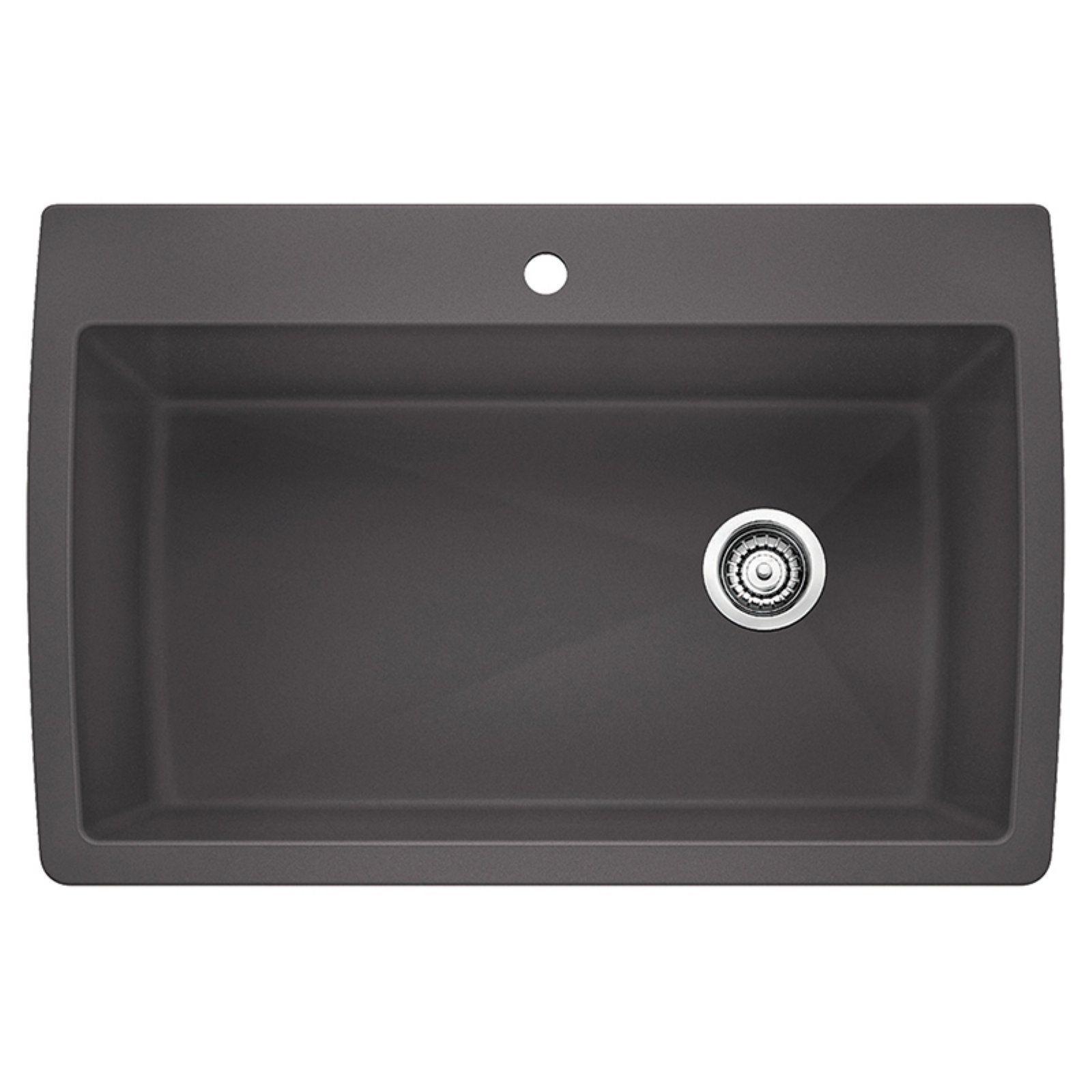 Blanco Diamond Single Basin Drop In Undermount Kitchen Sink Cinder Drop In Kitchen Sink Sink Kitchen Sink Design