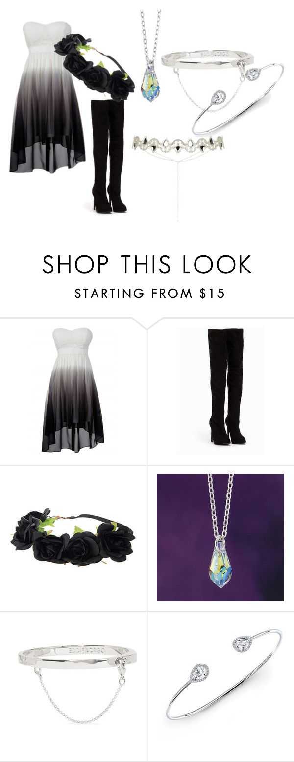 """Black roses"" by eyeless-angel-of-death ❤ liked on Polyvore featuring Nly Shoes, Eddie Borgo and Anne Sisteron"