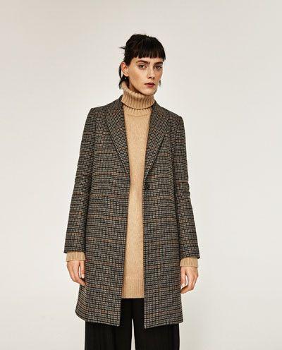b4afdf9d MASCULINE CHECKED COAT-Coats-OUTERWEAR-WOMAN   ZARA United Kingdom ...