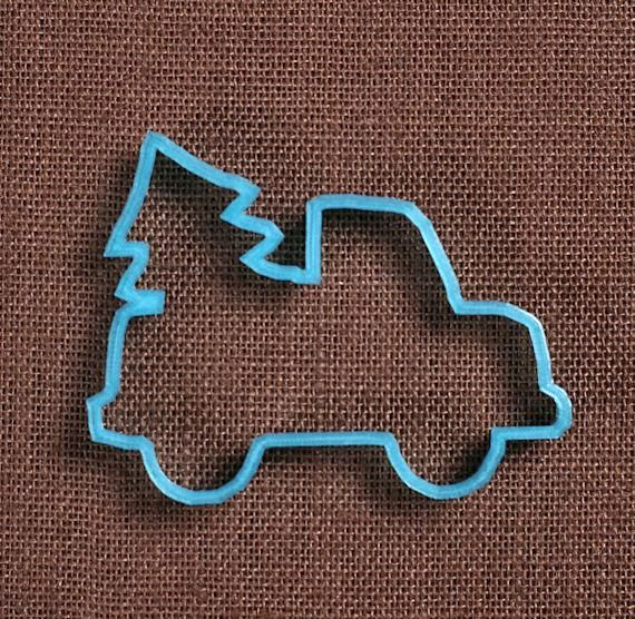 Designer Truck With Christmas Tree Cookie Cutter Cookie cutters