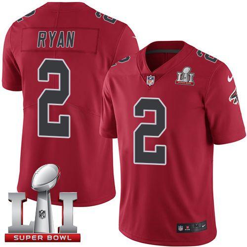 d0213d831 Nike Falcons Matt Ryan Red Super Bowl LI 51 Men s Stitched NFL Limited Rush  Jersey And Cowboys Dak Prescott 4 jersey