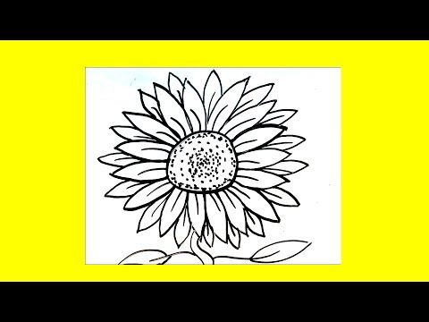 How To Draw A Sunflower Step By Step For Beginners Children And Kids New Easy Drawing Videos Every Week What Would You Like Cizimler Cizim Kolay Cizimler