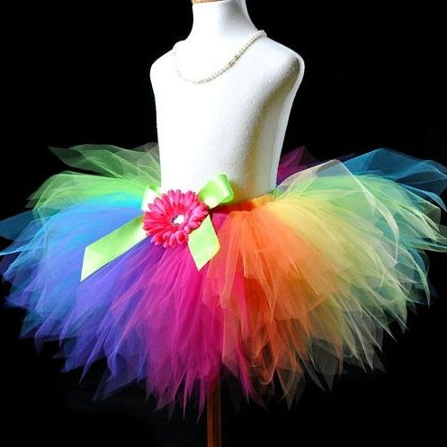 Candy Colorful Rainbow Pixie Cut Girls Tutu Skirt Will Get This For