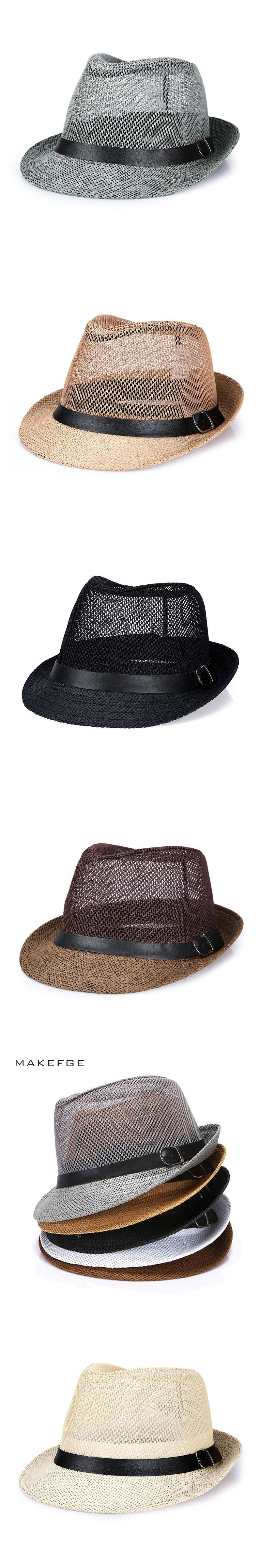 cuban style hats Fashion Mens Summer Jazz Hat Breathable Casual ...