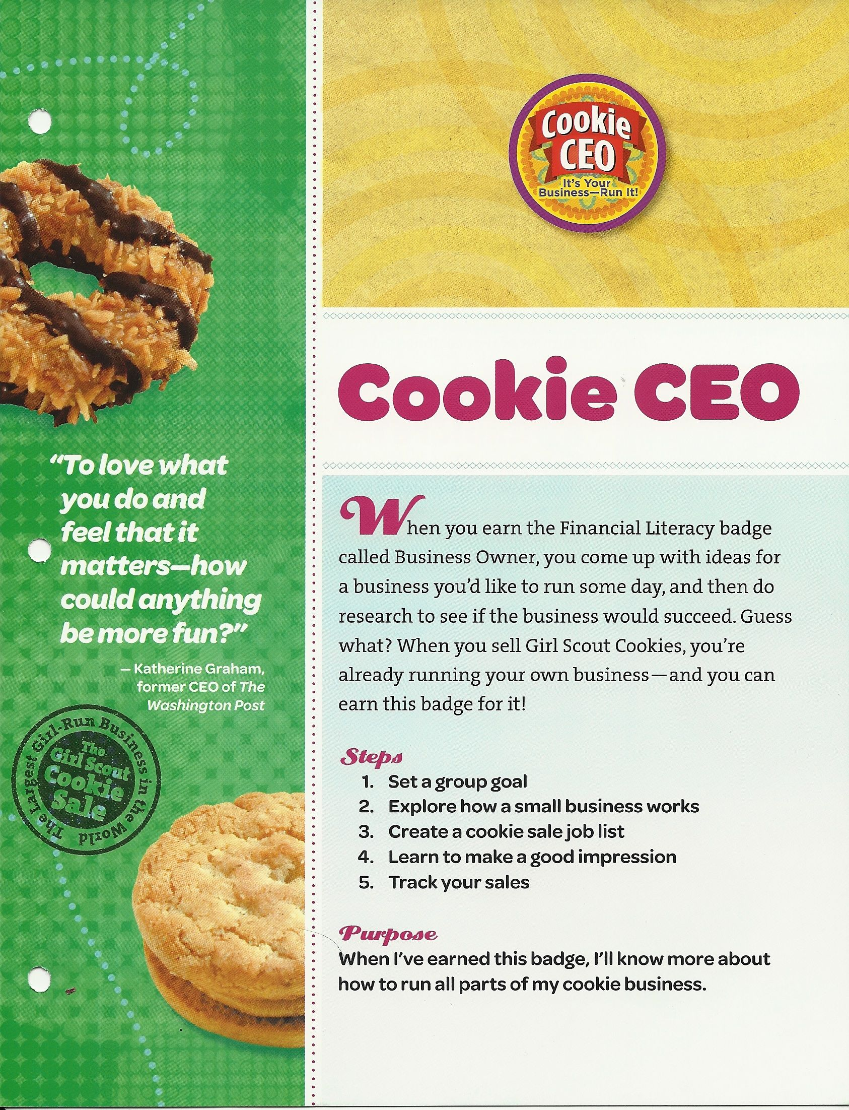 Cookie Ceo Worksheet 2019