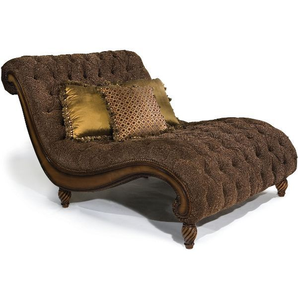 Dinah 55 Brown Upholstered Chaise Upholstered Chaise Chaise Lounge Furniture