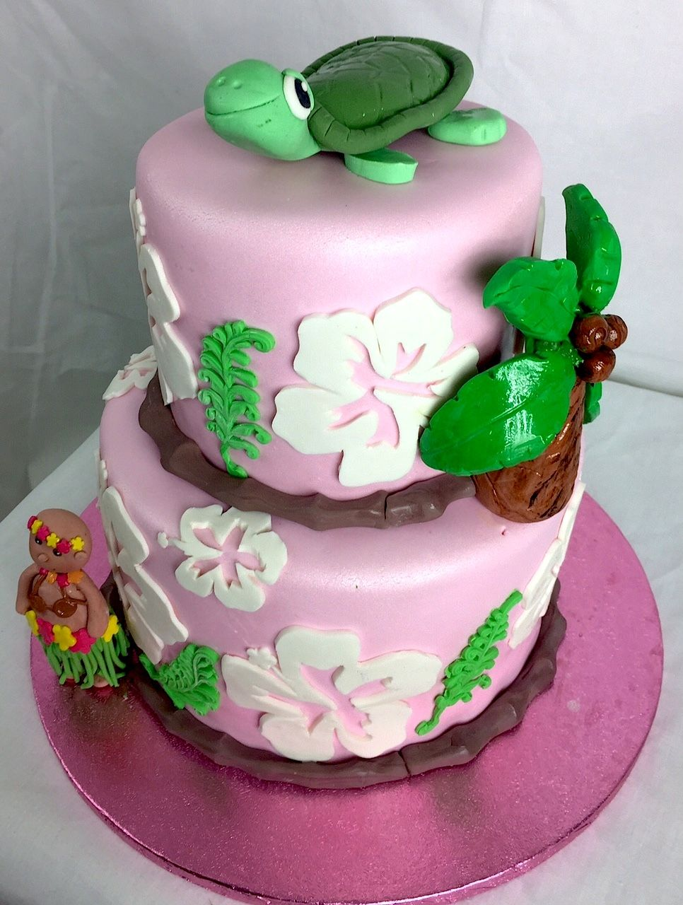 End of Summer Luau Cake! #summer #hawaii #luau #birthday #cake