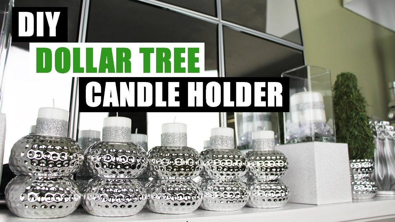 Diy dollar tree glam candle holder dollar store diy bing candles diy