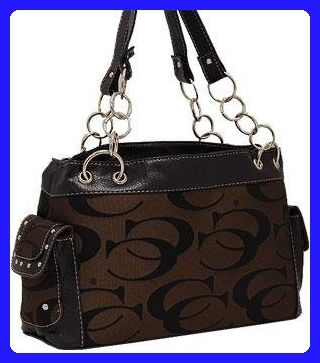 Signature CC Print Shoulder Bag HANDBAG PURSE - BROWN - Shoulder bags (*Amazon Partner-Link)