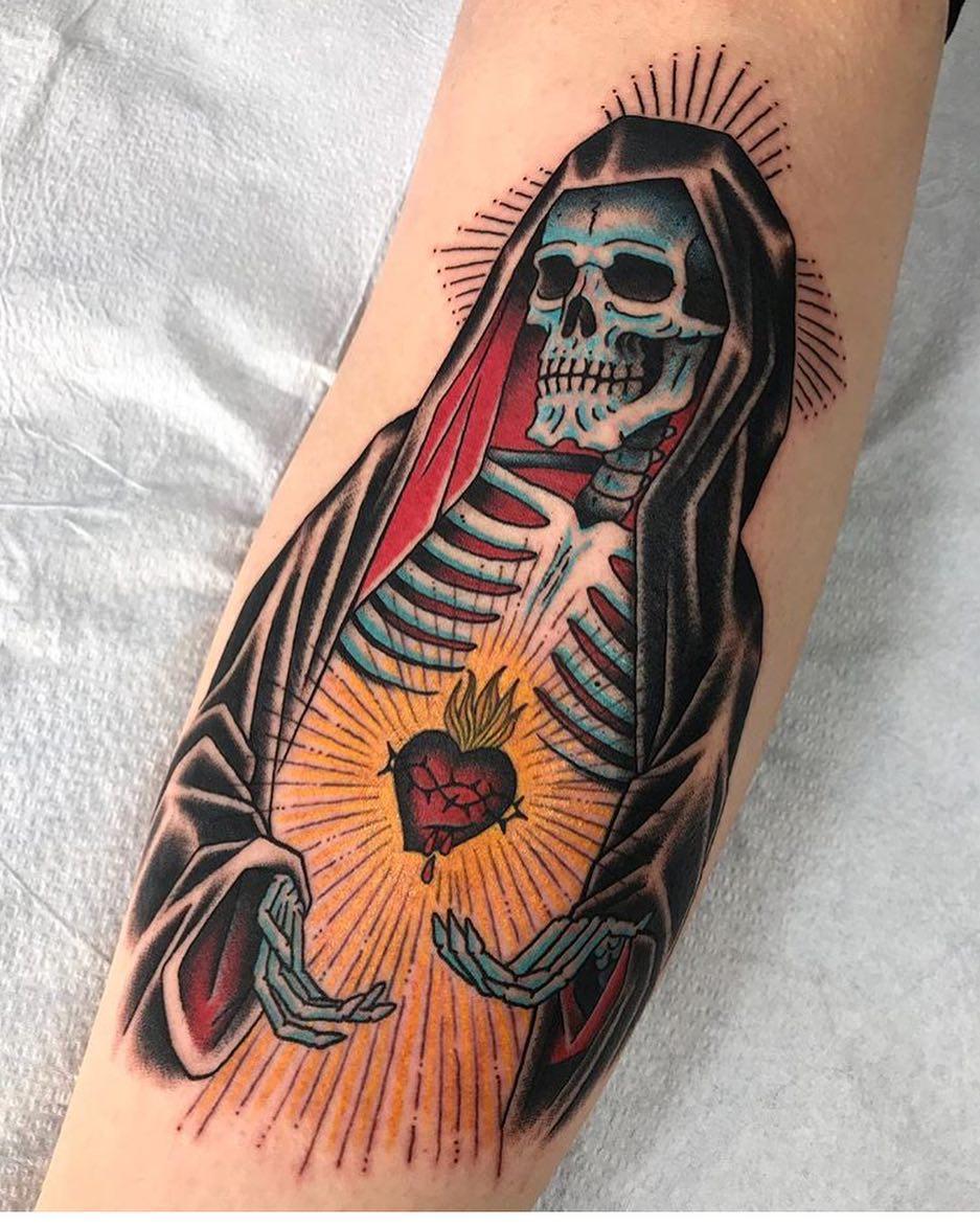 Tattoo by @death_cloak !! #rosaryfoottattoos