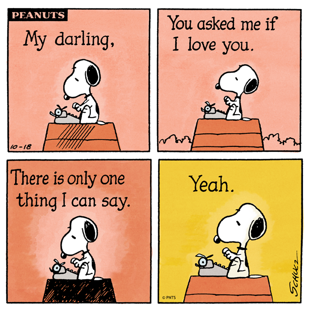 by Charles M  Schulz | Words | Snoopy comics, Snoopy love