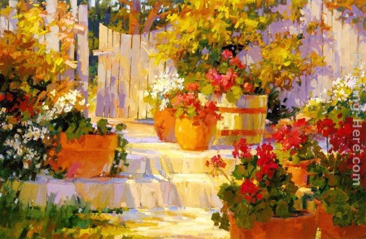 Songer Steve Patio Pots Painting   Best Paintings For Sale