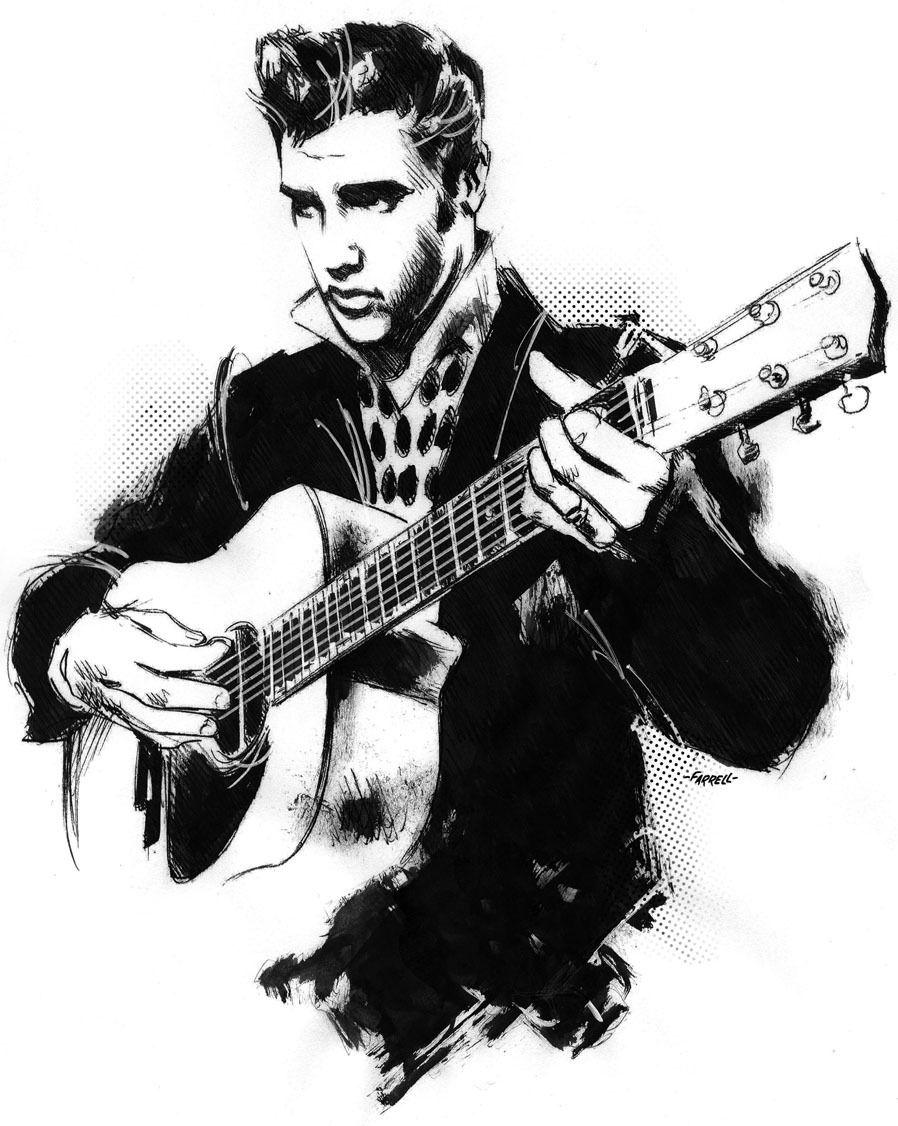Черно белые картинки рок н ролл