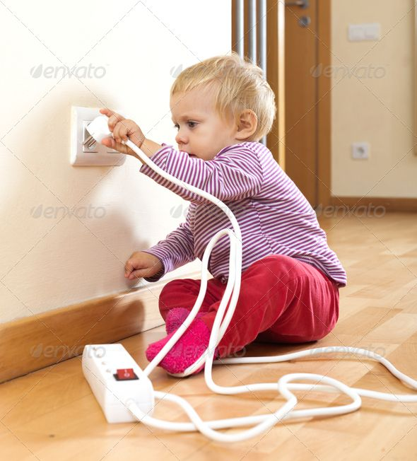 Beautiful Toddler Playing With Electricity At Home Misc