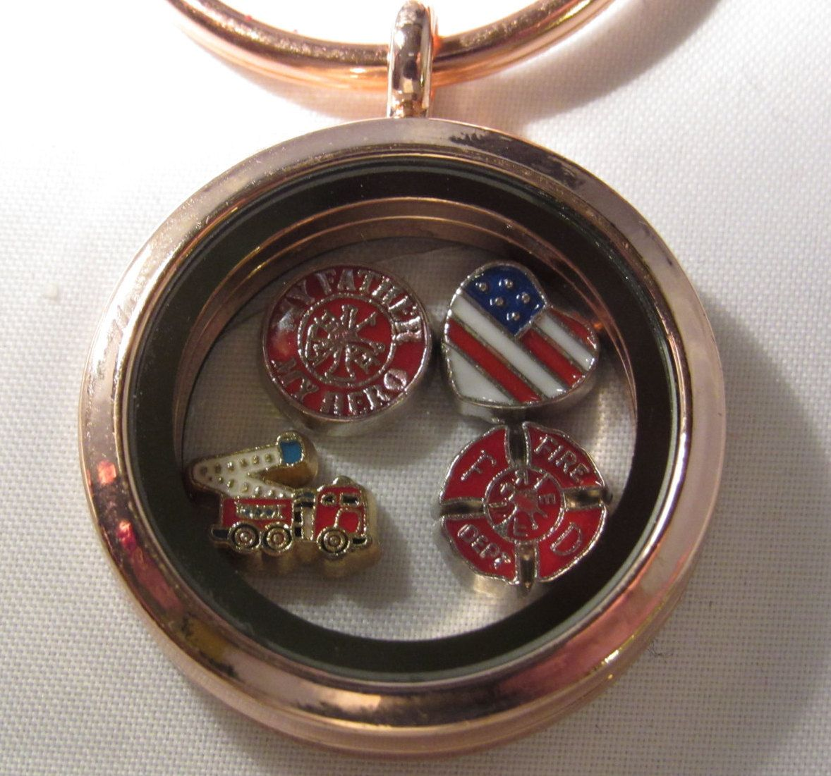large pin silver stainless floating keychain window steel locket lockets plate daddy includes