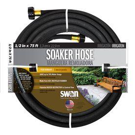 Swan 1 2 In X 75 Ft Garden Hose Louer12075fm Hose Soaker Hose