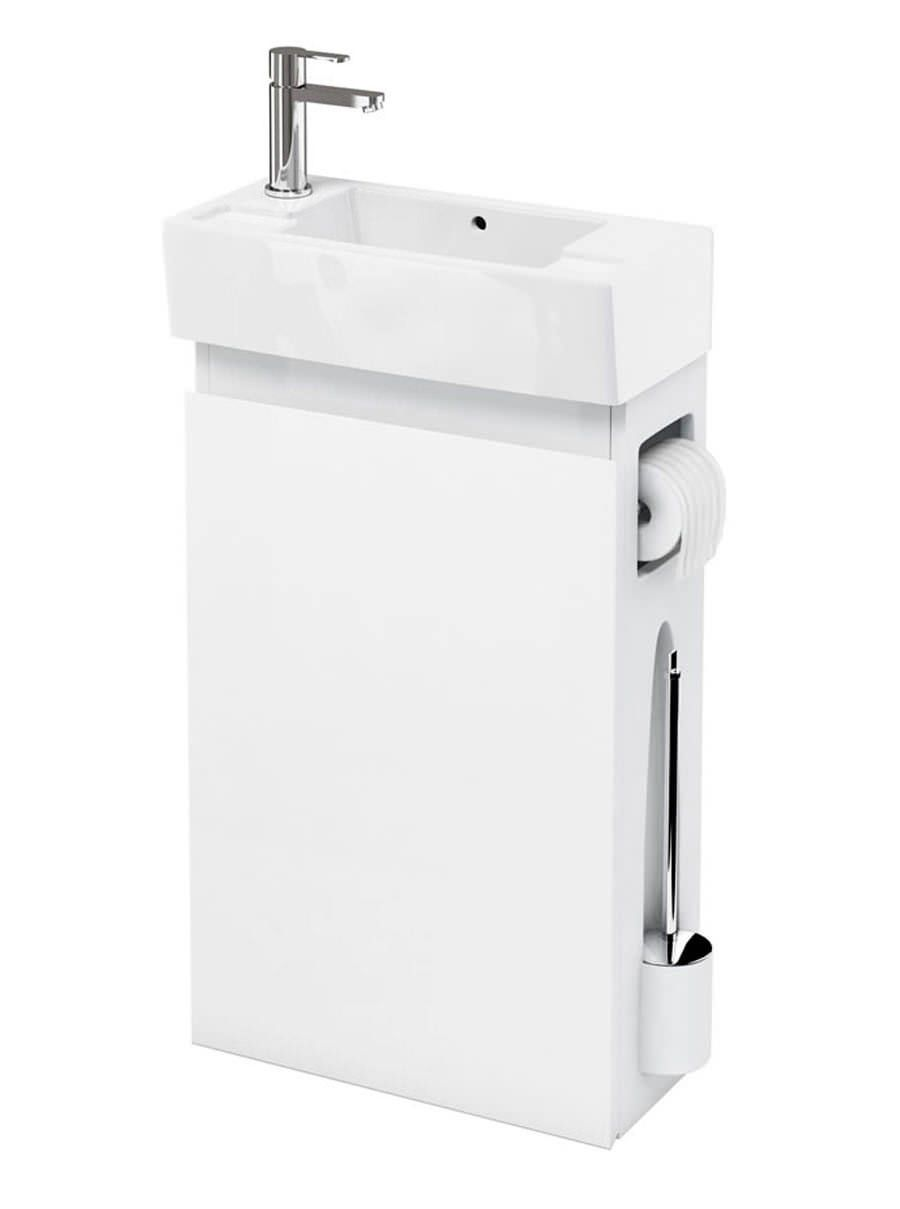 Britton All In One Floor Standing White Unit With Left Hand Basin