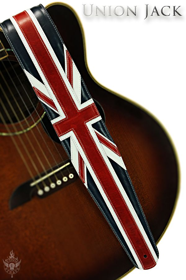 Union Jack Guitar Strap Guitar Strap Leather Projects Guitar