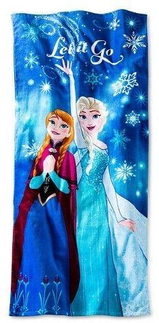 Frozen Beach Towel Frozen Blue 28 X 58 Inches Disney
