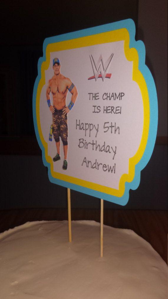 John Cena Cake Topper WWE John Cena Birthday Party Decoration John