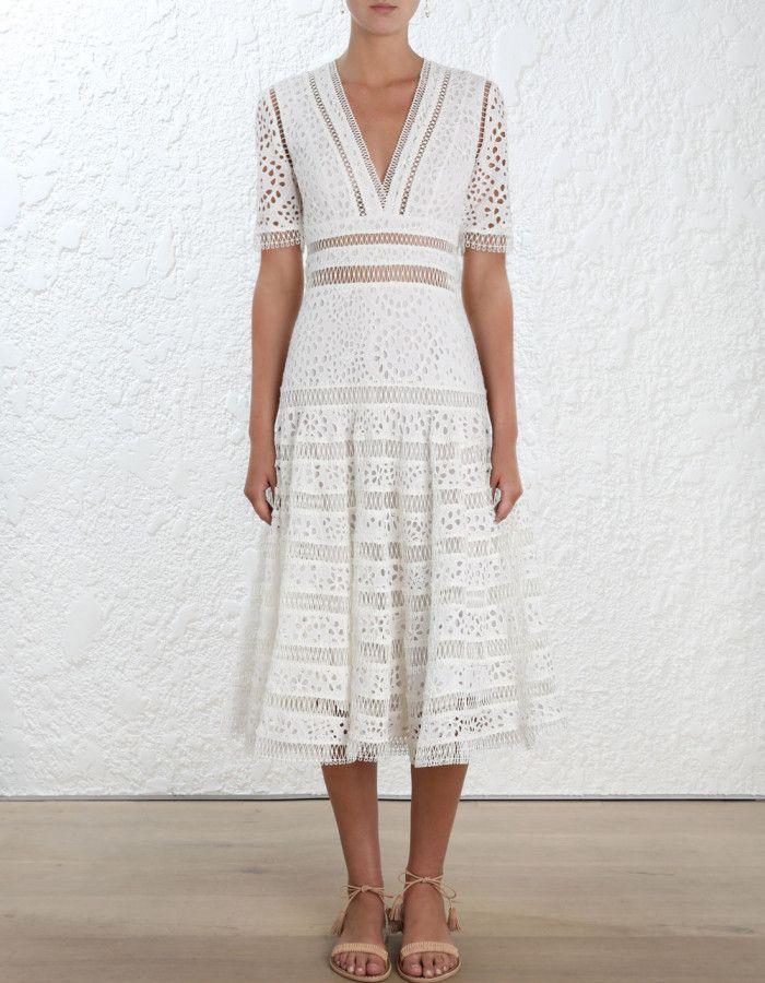 Zimmermann Lovelorn Long Tier Dress. Model Image. | Style ...