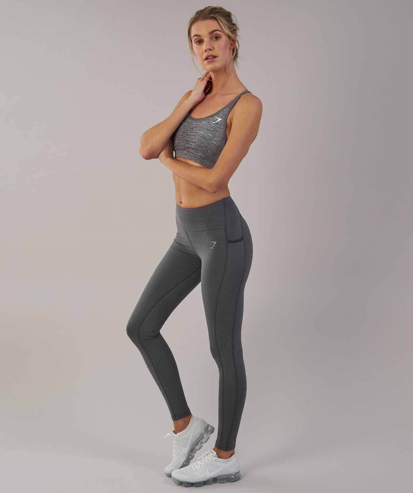 a67df7784d095 Gymshark Aspire Leggings - Charcoal Marl 4