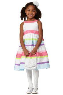 Ribbon Stripe Duppioni Dress | Gymboree, Rosette headband and ...
