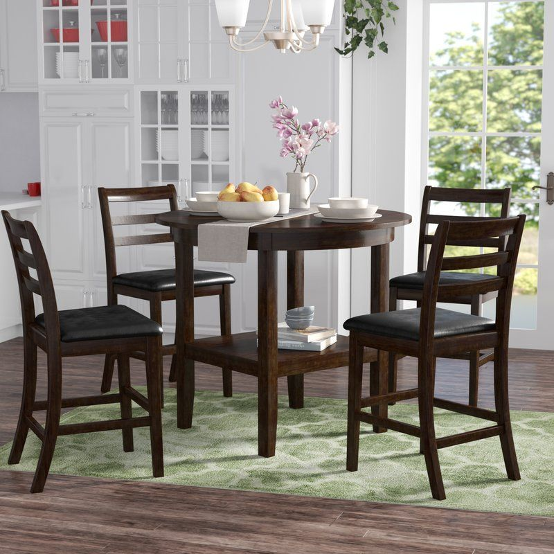 Gosselin 5 Piece Counter Height Dining Set Counter Height Dining