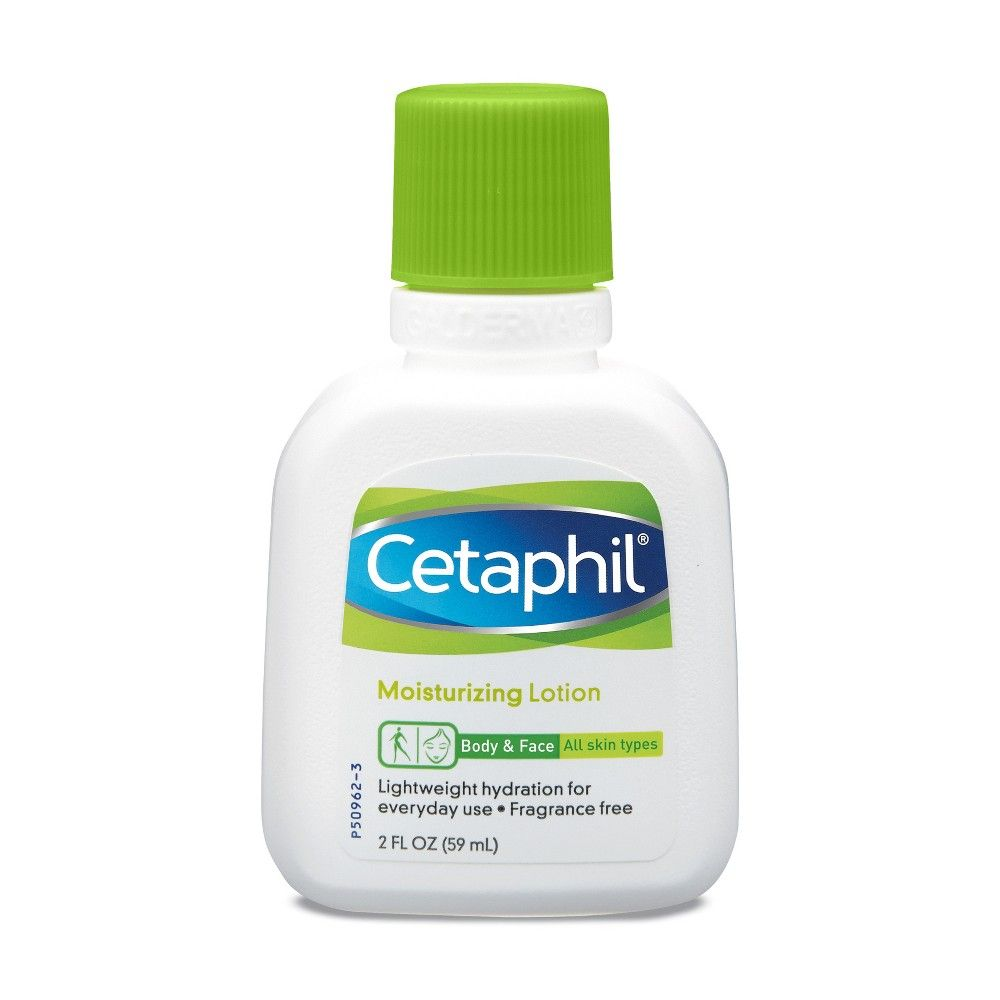 Cetaphil Body Face Moisturizing Lotion Unscented 2 Fl Oz