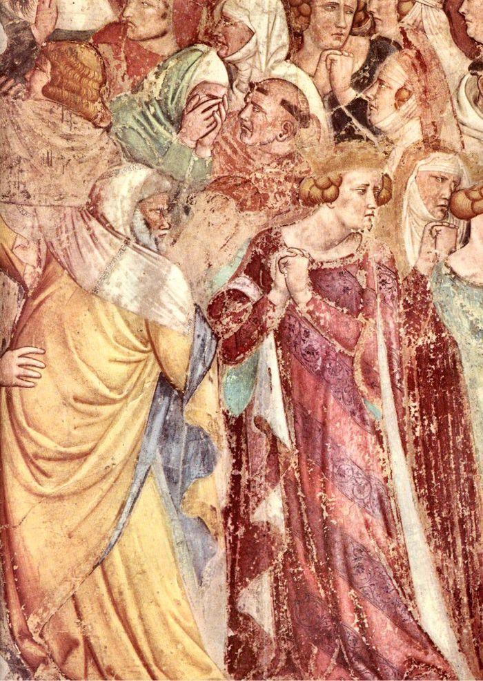 Camposanto Monumentale, Piazza dei Miracoli, Pisa,Tuscany, Italy. Fresco attributed to Buonamico Buffalmacco (1290, Florencia, Italia - 1340, Florencia, Italia), 'Last Judgement' (detail lower right corner, The Damned), c. 1336-1341. Buonamico Buffalmacco o Buonamico di Martino, fue un pintor italiano, activo en Florencia la primera mitad del siglo XIV. Uno de los más importantes representantes de la pintura gótica en la Toscana.